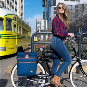 Green Bicycle Pannier Backpack - $200